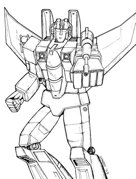 Transformers Coloring Pages Starscream Coloringpic