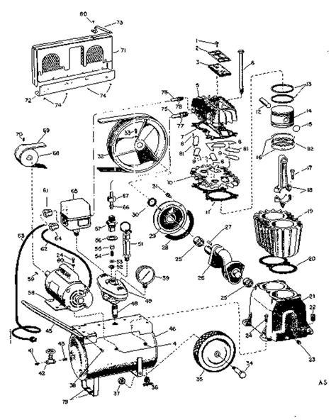 sears craftsman 106 173780 air compressor parts