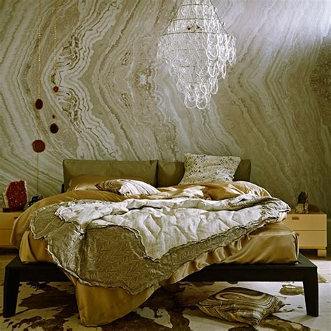 Marble Bedroom by Bedroom With Gold Marble Effect Wallpaper How To