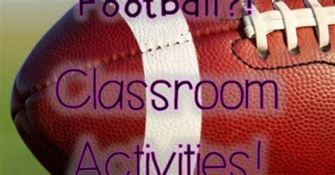 classroom football activities for elementary students