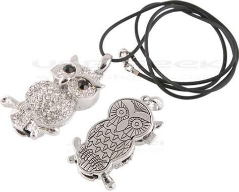 Kalung Owl Lucu flashdisk unik warna warni