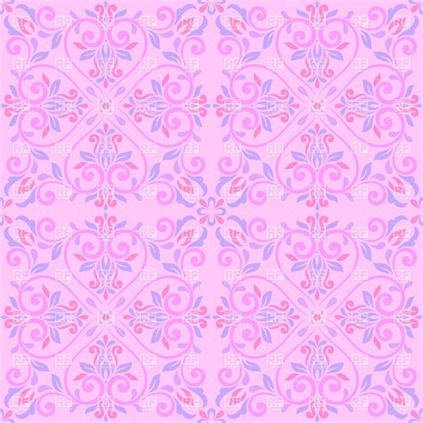 pattern in pink color curly floral seamless pattern in pink colors vector image