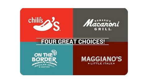 Chili Gift Card - save 10 on dinner chili s gift card on sale