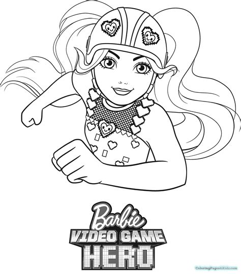 barbie video game hero coloring pages colotring pages