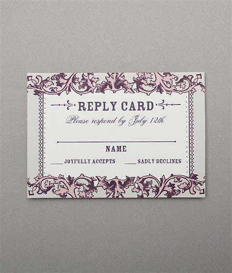 filigree cards templates vintage filigree rsvp card print