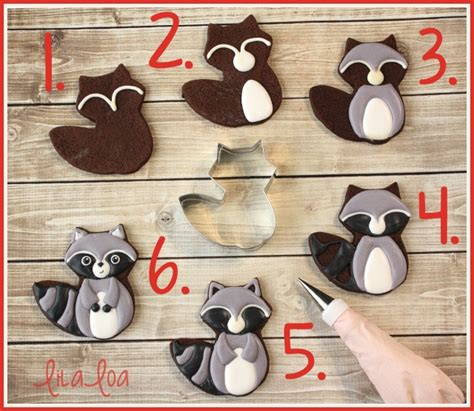How To Make Decorated Cookies by How To Make Decorated Woodland Raccoon Cookies Lilaloa