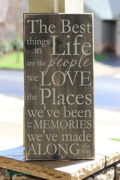 decorative wall signs for the home the best things in life are the people we love wood sign