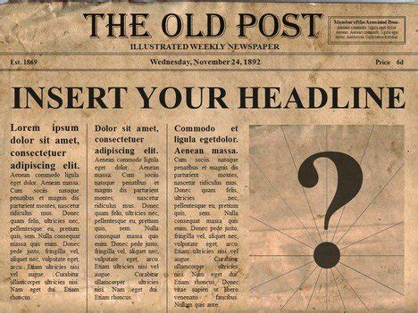 create your own newspaper template free editable newspaper powerpoint template