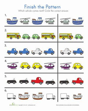 pattern based writing pdf transportation patterns worksheet education com