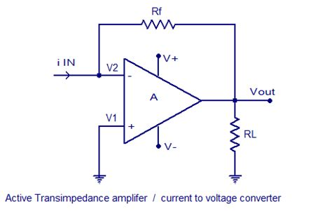 resistor voltage to current converter electronic components transimpedance lifier