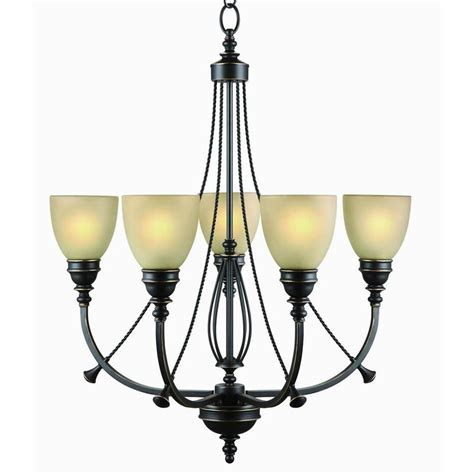 Commercial Electric 5 Light Bronze Chandelier Rb063 P5