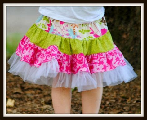 Rok And Bab Stitching Woven Skirt skirt sewing pattern instant twirl skirt pattern toddler baby