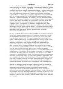Joseph Stalin Essay by Essay By Stalin