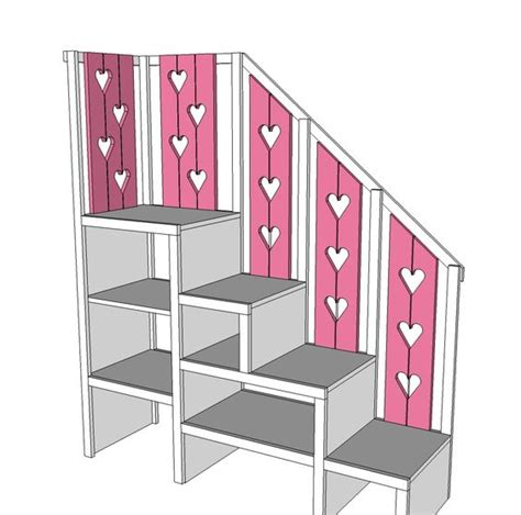 Free Plans For Bunk Beds With Stairs White Build A Sweet Pea Garden Bunk Bed Storage Stairs Free And Easy Diy Project And