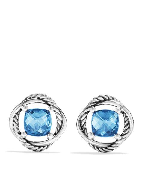 david yurman infinity earrings with hton blue topaz in