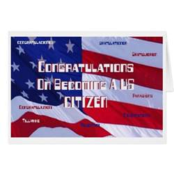 congratulations on becoming a us citizen card zazzle