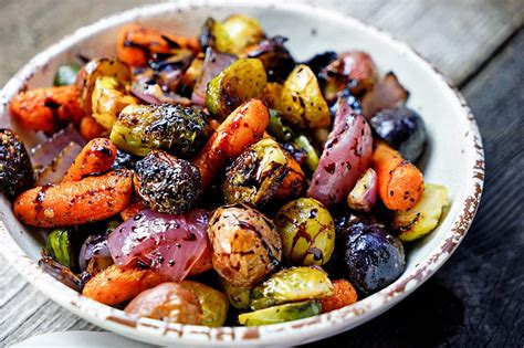 roasted vegetables easy roasted vegetables with honey and balsamic syrup