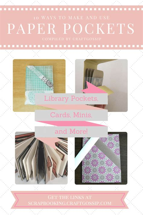 Ways To Make Paper - 10 ways to make and use paper pockets templates