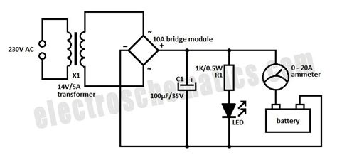 12v 10a battery charger circuit diagram simple 12 volt charger circuit