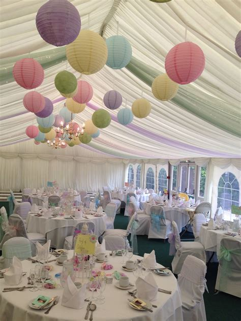 Different Pastel colours creating one amazing marquee