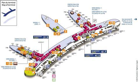 cdg map cdg airport terminal 2f map map of cdg airport terminal