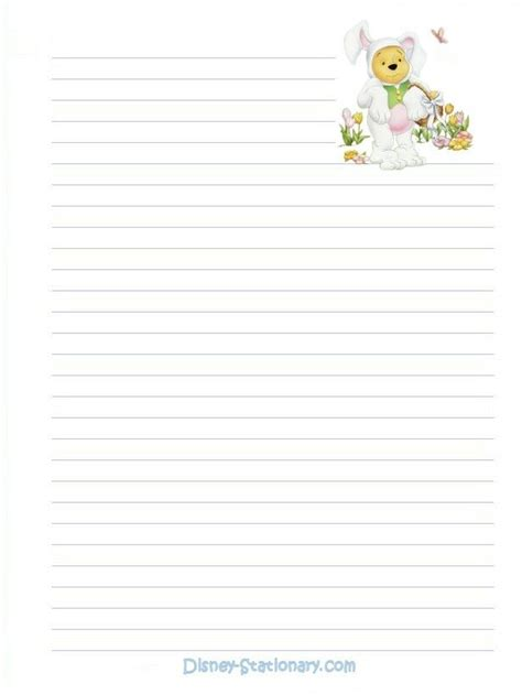 printable disney recipe cards 17 best images about winnie the pooh stationary printable
