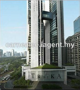 the troika floor plan condominium for rent in the troika kl city for rm 15 000