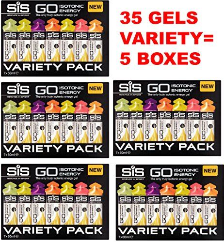 Box 35s science in sport go isotonic energy gels box of 35s