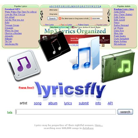 Really Free Search Engines Free Lyrics Identification Search Engines Web Cool Tips