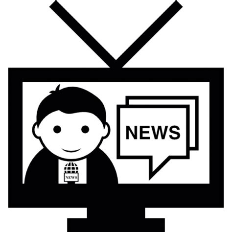 news tv news report on tv icons free