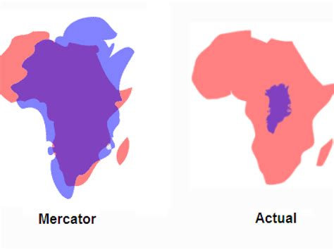 africa map distortion this one country shows how distorted our modern map is