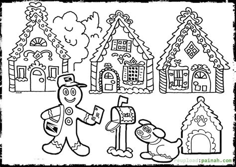 coloring page gingerbread house gingerbread house coloring pages to print coloring home