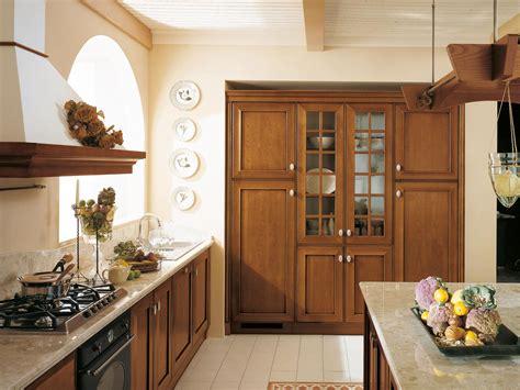 mobili delle ande cucina in legno massello con isola collezione velia