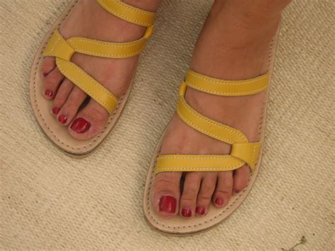 Sandals Handmade - yellow handmade leather sandal for open toe comfort