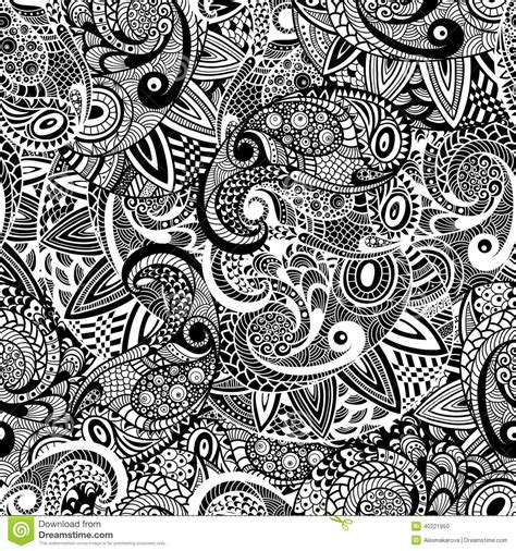 seamless doodle pattern free vector vector seamless paisley doodle pattern stock vector