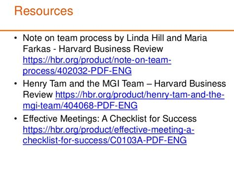 Harvard Mba Application Checklist by Team Process For Startups