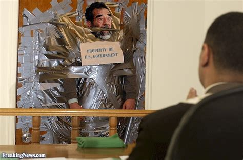 casa saddam saddam hussein duct taped to a wall pictures
