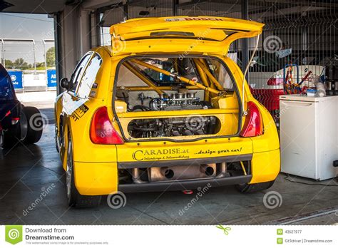 renault clio v6 modified renault clio v6 racing car editorial photography image