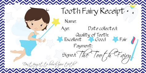 printable card from tooth fairy o s first lost tooth tooth fairy receipt free printable