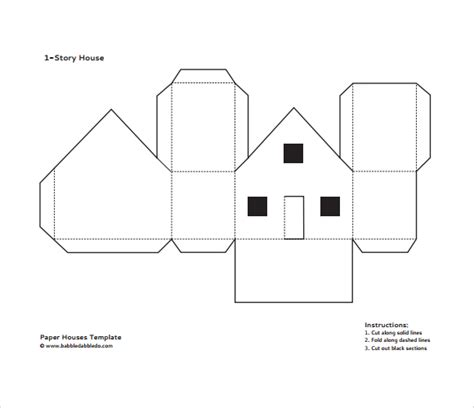printable paper house pattern best photos of cardboard house template cardboard paper