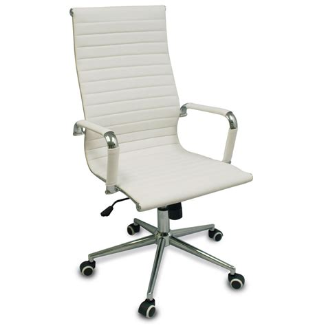 White Modern Desk Chair New White Modern Executive Ergonomic Conference Computer Desk Office Task Chair Ebay