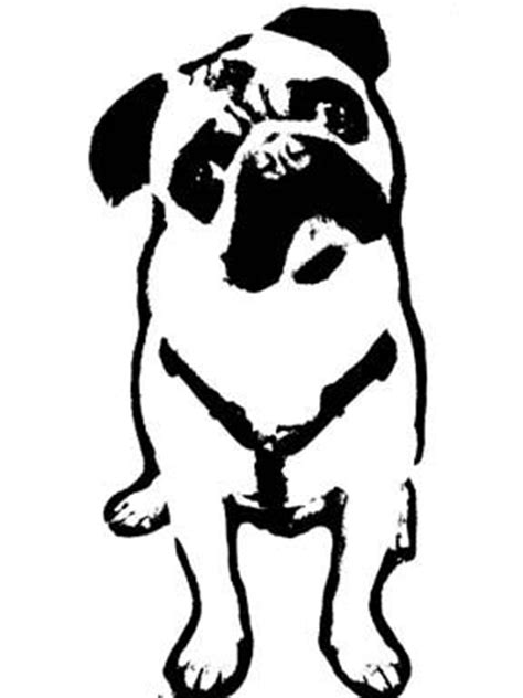 pug pumpkin stencil pug stencil search dod pug stencils and search