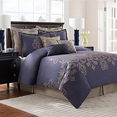 bed bath and beyond saginaw waterford bedding harrison collection jacquard comforter