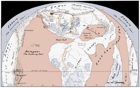 map world age lord of the rings most accurate map of arda before
