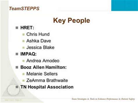 Booz Allen Hamilton Mba Program by The State Of Teamstepps Slide Presentation Agency For