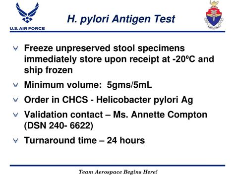 H Pylori Test Stool by Ppt Usafsam Epidemiology Laboratory Service Powerpoint