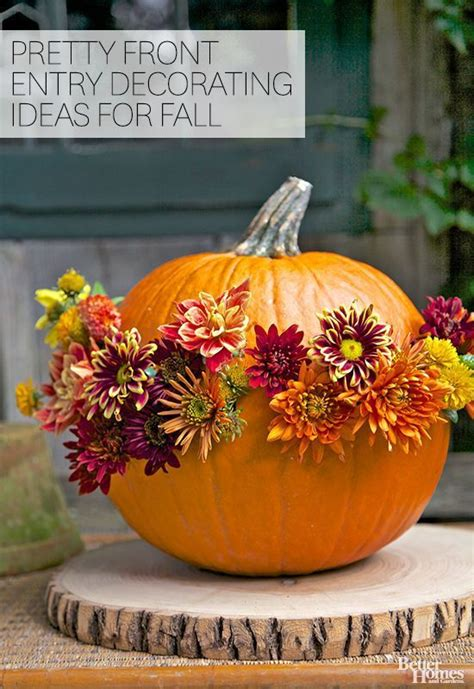 pretty front entry decorating ideas  fall gardens
