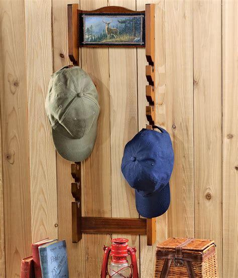 Hat Wall Rack by Wooden Cap Hat Wall Rack With Hautman Bros Deer Motif