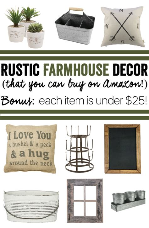 buy rustic home decor rustic farmhouse decor that you can buy on amazon