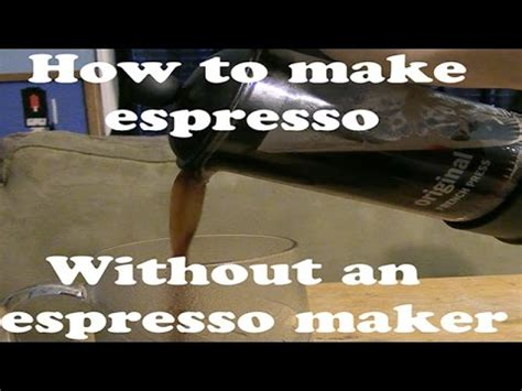 how to make a faux espresso at home without an espresso